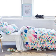 Adairs Kids After The Rain Quilt Cover Set, kids quilt covers, kids doona covers