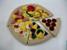 Crochet Pattern- PIZZA - playfood / toys - PDF (00428)