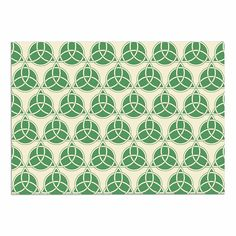 KESS InHouse KESS Original 'Celtic-Pattern' Green Beige Dog Place Mat, 13' x 18' >>> Want to know more, visit the site now : Dog food container