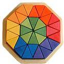 Drobne Zabawki DREWNIANE - niemiecki geometryczne mozaiki puzzle & Bloki
