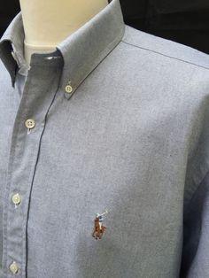 #Polo #RalphLauren #Mens #Yarmouth #Shirt #XL #Regular #Fit #Plain #Grey #Oxford #Cotton #eBay #TriedandTested #Menswear