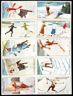 cigarettes card-Winter Sports