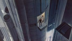 Artist Ralph McQuarrie shows how the inside of the Death Star would look before the film Star Wars is finished. Master of Pre-production art. Ralph Mcquarrie, Science Fiction, Star Art, Star Wars Art, Chewbacca, Darth Vader, Star Wars Episode Iv, Star Wars Concept Art, Death Star