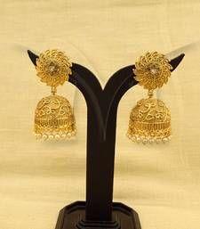Buy Spiral chakra jhumki style antique earrings jhumka online