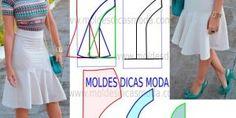 MOLDE DE SAIA BRANCA -33