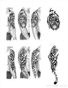 Tiger Sleeve Tattoo by Adams-Twins