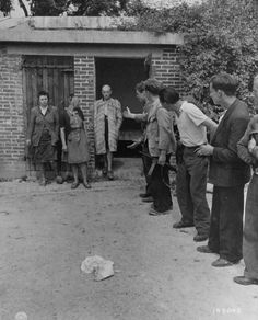 Three women who consorted with the Germans during the occupation are released after being publicly humiliated by the French resistance. The women's heads were shaven as part of their punishment. Aug 1944.