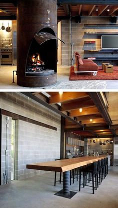 An industrial kitchen is always a good idea. Description from pinterest.com. I searched for this on bing.com/images