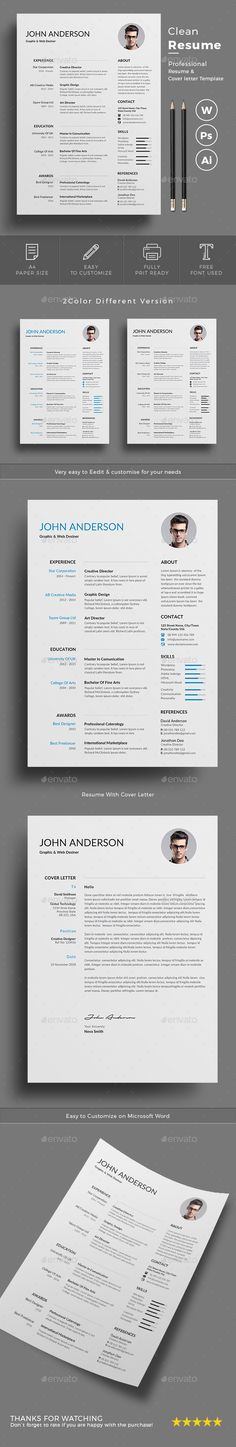 Professional Resume Template by Leo Resume on @creativemarket - different resume templates