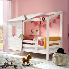 "Adventure bed ""Kids Paradise"" for girls - Kinderbett - Kids Furniture, Furniture Design, Build A Playhouse, House Beds, Ikea Bed, Kid Beds, New Room, Little Girl Rooms, Play Houses"
