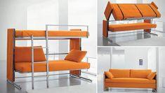 Двухъярусная кровать с диваном - 1