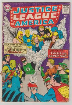 Justice League of America; Vol 1, 21 Silver Age Comic Book. GD. August 1963.  DC Comics #justiceleague #crisis #silveragecomics #comicsforsale