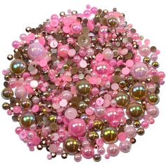 This embellishment pack contains a luscious mixture of rhinestones and pearls in tones of pink and brown The sparkly gems range in size from to Nail Decorations, Ornament Wreath, Cocoa, Embellishments, Card Making, Packing, Gems, Range