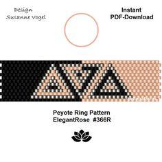 peyote patternPDF-Download 366R peyote ring beading