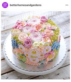 Better Homes and Gardens Spring Flower cake.  Just beautiful!