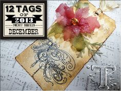 Tim Holtz christmas 2013 tag. I have to get these 2 products to make the flower look like that: Clearly for art and frosted film!. For My  handmade greeting cards visit me at My English Personal blog: http://stampingwithbibiana.blogspot.com/