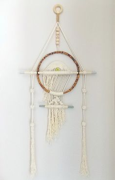 """Wall Hanging """"TAIKO No.2"""" by Himo Art, One of a kind Handcrafted Macrame"""