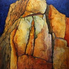 Geologic Abstract Painting, Pinnacle by Carol Nelson Fine Art, painting by artist Carol Nelson