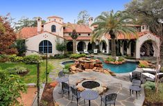 Gated Mediterranean Mansion In Houston, Texas - By Luxatic