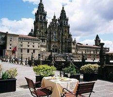 Dining at Parador de Santiago de Compostela in Spain