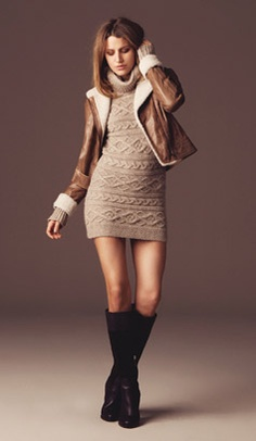 oh my god... i need this crochet dress and leather jacket... how stinking cute