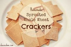 Homemade Sprouted Crackers / http://www.cheeseslave.com/sprouted-whole-wheat-crackers/
