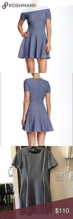 89441e9655f NWT Theory Albita Fit & Flare Dress Details A short sleeve stretch  cotton fit and