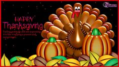 Happy Thanksgiving Day Turkey Quote Card and Saying Greetings