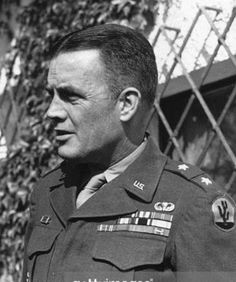 General Anthony McAuliffe, acting division commander of the 101st Airborne during the Battle of the Bulge