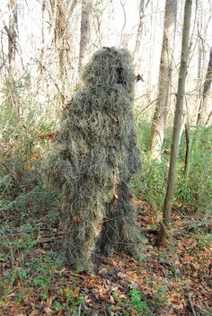 This is an all season woodland ghillie suit. You can use this ghillie suit all year long during winter, spring, summer or fall. You simply wear proper undergarment Ghillie Suit, Survival Clothing, Survival Gear, Survival Stuff, Survival Skills, Survival Shelter, Suit Stores, Kids Suits, Special Forces