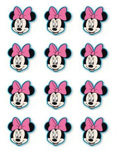 Cake Pink Birthday Minnie Mouse 60 Ideas For 2019 Minnie Mouse Template, Minnie Mouse Stickers, Minnie Mouse Cupcake Toppers, Mini Mouse Cupcakes, Minnie Cupcakes, Minnie Mouse 1st Birthday, Minnie Mouse Theme, Pink Birthday, Cake Birthday