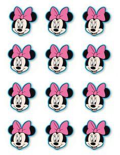 Cake Pink Birthday Minnie Mouse 60 Ideas For 2019 Minnie Mouse Template, Minnie Mouse Cupcake Toppers, Mini Mouse Cupcakes, Minnie Cupcakes, Minnie Mouse 1st Birthday, Minnie Mouse Theme, Pink Birthday, Cake Birthday, Theme Mickey