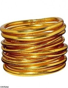 Bracelets bouddhistes- BAAN Plastique et feuilles d'or
