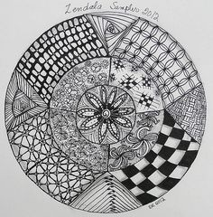 83 Best Round Zentangles Images On Pinterest
