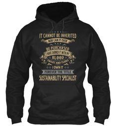 Sustainability Specialist #SustainabilitySpecialist