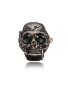 Skull Finger Ring Watch