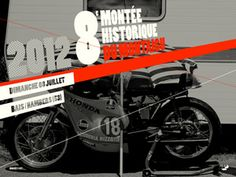 One of the most charming European motorcycle events is the Montée Historique du Montaigu, an informal race meeting open to both motorcycles and sidecars. It's held in a small town 450 kilometers south-west of Paris, and this year, it's the 40th anniversary. To celebrate, the Parisian designer Pierrick Jégou has created a set of stylish, vintage-themed posters—and a range of wallpapers exclusively for Bike EXIF readers. Pop them on your desktop for an instant dash of retro moto style.
