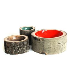 Loyal Loot: Log Bowls Covered In Bark