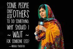 A look at Malala Yousafzai's words of inspiration.