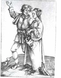 The young peasant and his wife - Albrecht Durer