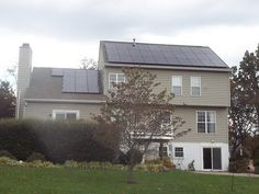 Solar Energy World installs a residential solar panel system in October 2012.