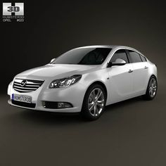 Opel Insignia hatchback 2012 3d model from humster3d.com. Price: $75