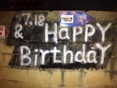 Happy birthday - graffiti Malta #graffiti #Malta #birthday