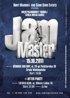 Jam Master Bboys Competition Flyer