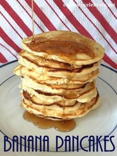 Soft, fluffy and full of banana flavor - these Banana Pancakes will become a weekend staple!