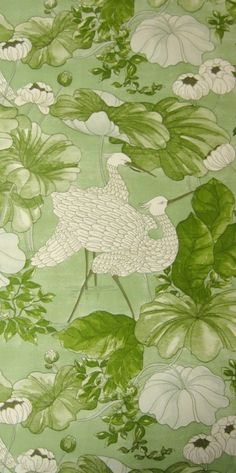 Anomalia Green | Blumige Tapeten | Original Vintage Tapeten | Johnny-Tapete