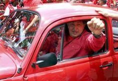 Hugo Chavez, presidente da Venezuela, foi às urnas em 2006 a bordo de um autêntico Fusca