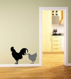 Hen and Rooster Vinyl Lettering wall words by itswritteninvinyl, $12.00