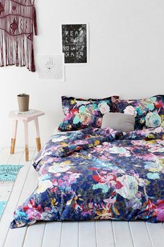 Plum & Bow Luna Flower Duvet Cover - Urban Outfitters from Urban Outfitters. Saved to home. Home Decor Trends, Home Interior Design, Flower Duvet Cover, Decor, Home, Bedroom Inspirations, Girls Bedroom, European Home Decor, Home Decor