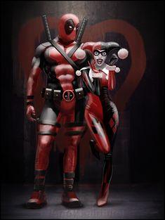 Deadpool & Harley Quinn Art by Andy Fairhurst || FB